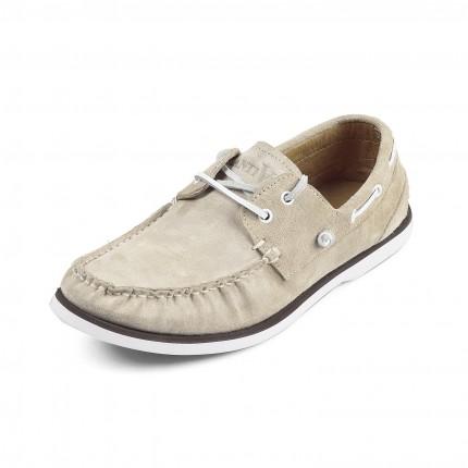 朗蒂维经典时尚全皮帆船鞋